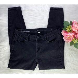 Loft Outlet Women Modern Skinny Jeans Black SZ 12P